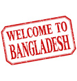 Bangladesh - welcome red vintage isolated label vector image vector image