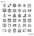 banking and financial outline icons perfect pixel vector image vector image