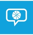 Basketball message icon vector image vector image