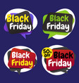 black friday shopping day origami banner label vector image vector image