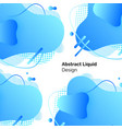 blue abstract liquid design lines and shapes vector image
