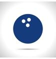 bowling ball icon Eps10 vector image vector image