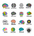 brain logotypes business concept of colored smart vector image vector image