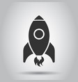 cartoon rocket space ship icon in flat style vector image vector image