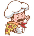 chef pizza vector image vector image