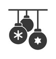 christmas ball merry christmas icon set solid vector image vector image