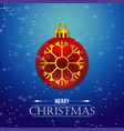 christmas card with snow falkes balls vector image vector image