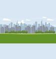 cityscape metropolis panorama horizon vector image