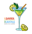 cocktails one cartoon 6 vector image