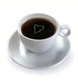 coffee with sugar heart vector image vector image