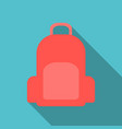 colorful school backpack backpack for vector image vector image
