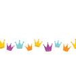 crowns seamless border vector image