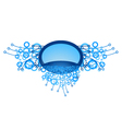 decorative blue emblem vector image vector image
