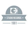 dj studio logo simple gray style vector image