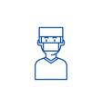 doctorsurgery line icon concept doctorsurgery vector image vector image