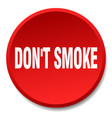 Dont smoke red round flat isolated push button