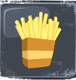 food and drink theme french fries vector image vector image