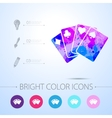 game cards icon with infographic elements vector image