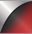 geometric red mesh background with a light frame vector image