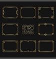 gold retro frames style 1920s collection of vector image