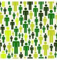 green social media pattern vector image