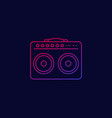 guitar amp icon linear vector image vector image