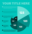 infographics elements pie chart vector image vector image