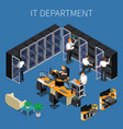 it engineering isometric composition vector image vector image