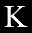 kappa greek sign vector image