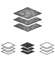 Layers icon set - sketch line art vector image vector image