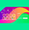 lgbt concept gay and lesbian couples with rainbow vector image vector image