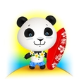 Little cute surfer panda vector image