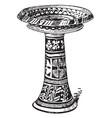 minoan pottery is a large minoan vase vintage vector image vector image
