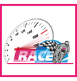 Motor race logo event vector image vector image