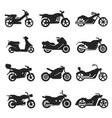motorcycles motorbikes variety bold black vector image