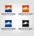 mountain square logo template vector image