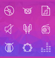 music outlines set collection of soundtrack vector image