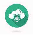 online privacy icon with long shadow for graphic vector image