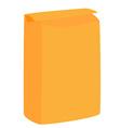 Orange flour package vector image