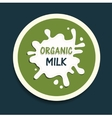 organic milk icon vector image