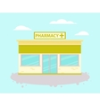 Pharmacy building vector image vector image