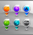 pinpoint glass button vector image