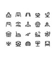 playground line icons vector image vector image