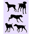 pointer dog silhouette 01 vector image vector image