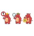 Red Hippo Mascot with money vector image vector image