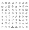religion icons set thin style vector image