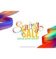 sale banner template design spring fashion vector image
