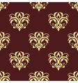 Seamless floral victorian tracery vector image