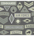 seamless military pattern 09 vector image vector image