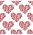 Seamless pattern of red ribbon vector image